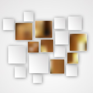 Brown and White Modern Square Abstract Background