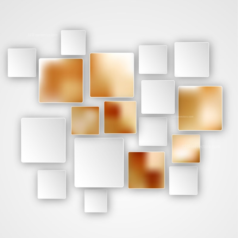 Brown and White Squares Abstract Background