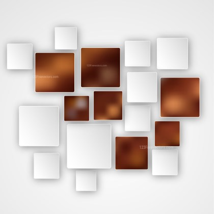 Brown and White Modern Square Abstract Background Template