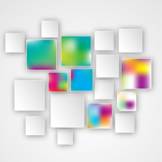Colorful Abstract Modern Square Background
