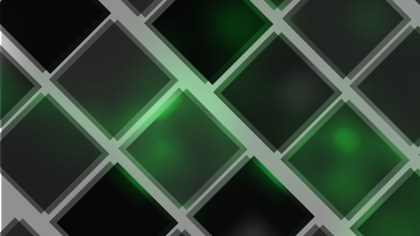 Abstract Green and Black Square Lines Background Illustration