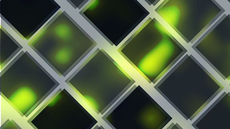 Green and Black Square Lines Background