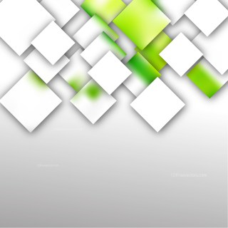 Modern Green and White Square Abstract Background Vector Illustration