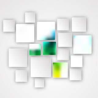 Abstract Green and White Square Modern Background Design Template
