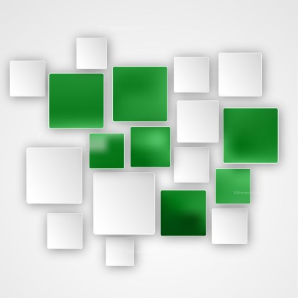 Modern Green and White Square Abstract Background
