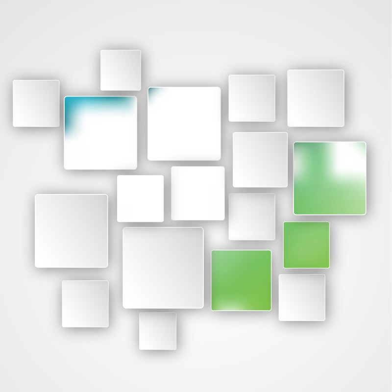 Abstract Green and White Modern Square Background