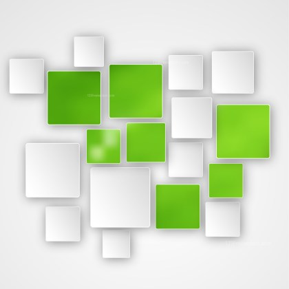 Green and White Modern Square Abstract Background Design