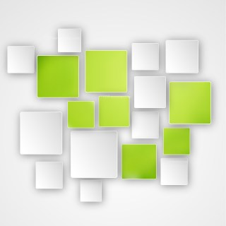 Green and White Squares Abstract Background Image