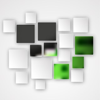 Modern Green Black and White Square Abstract Background