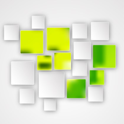 Abstract Green Yellow and White Modern Square Background