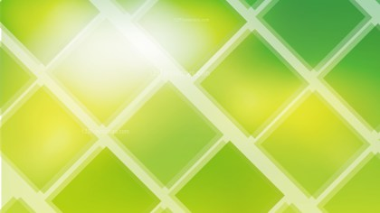 Abstract Green Yellow and White Square Lines Background