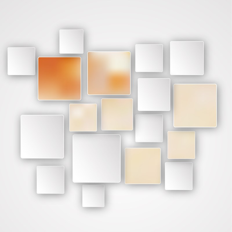 Orange and White Abstract Modern Square Background Illustration