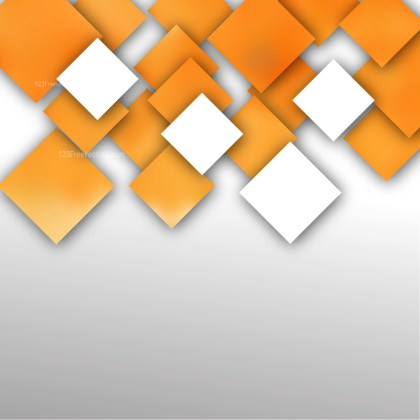 Abstract Orange and White Square Background