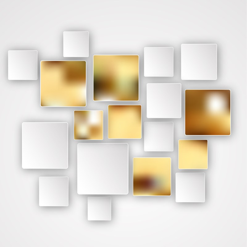 Orange and White Abstract Modern Square Background