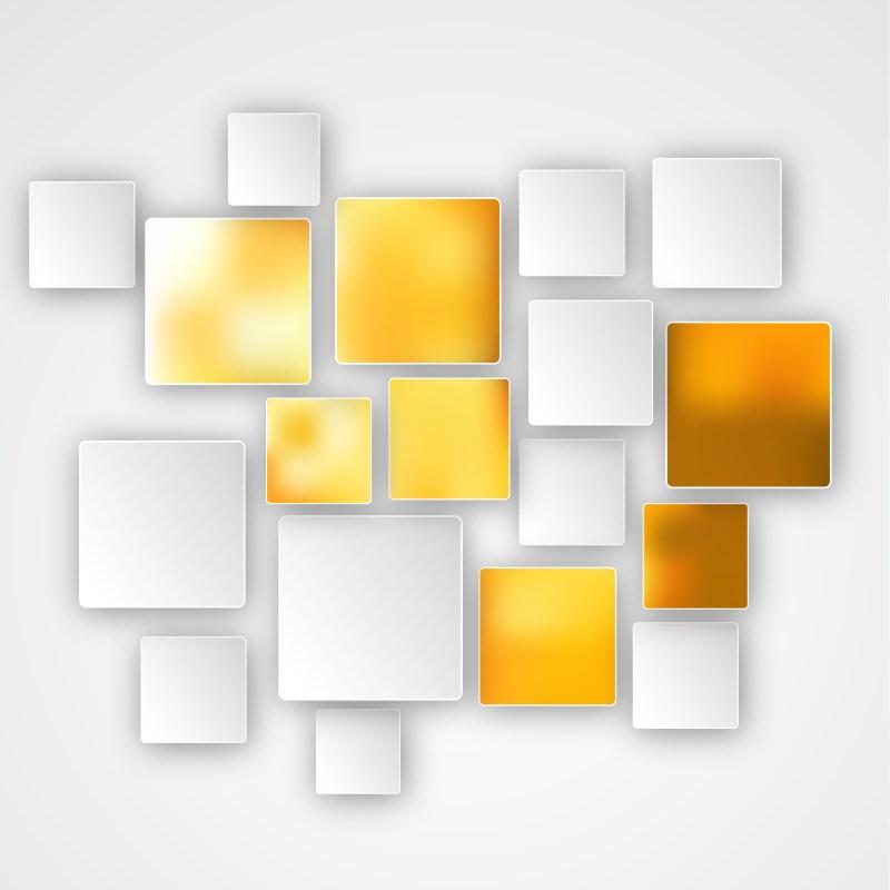 Modern Orange and White Square Background