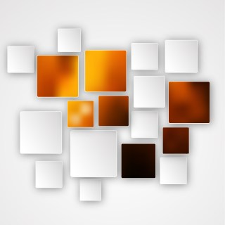 Abstract Orange Black and White Modern Square Background Design