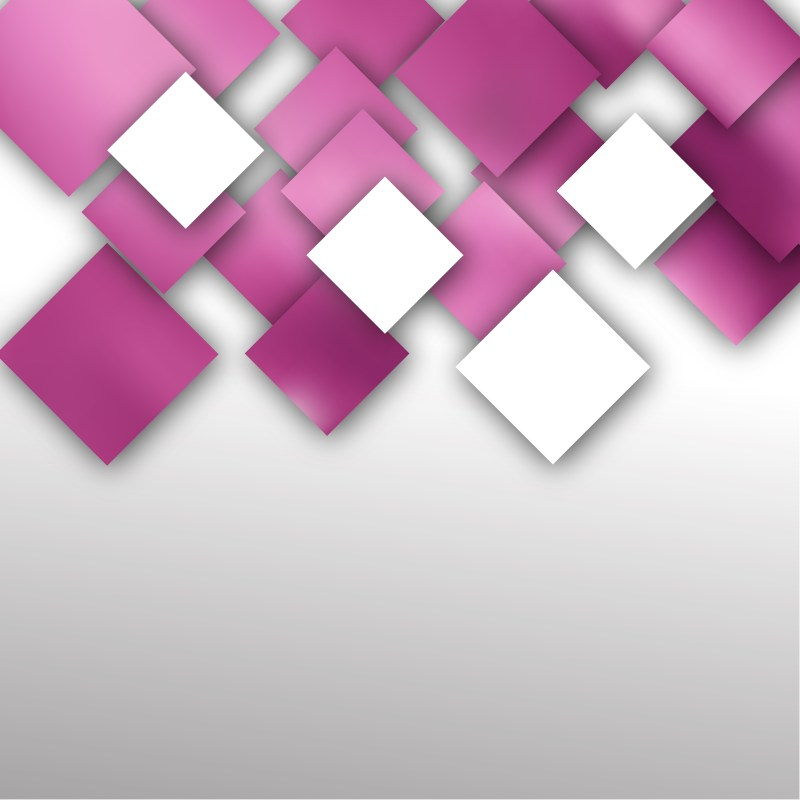 Abstract Pink and White Square Modern Background