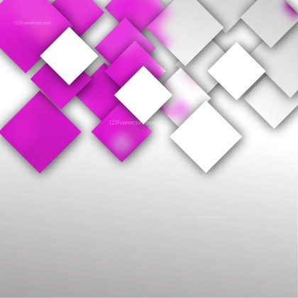 Pink and White Abstract Modern Square Background