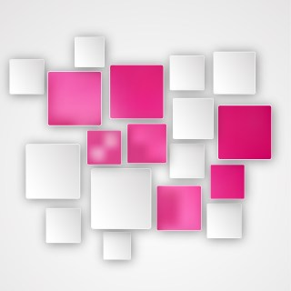 Pink and White Squares Abstract Background Design Template