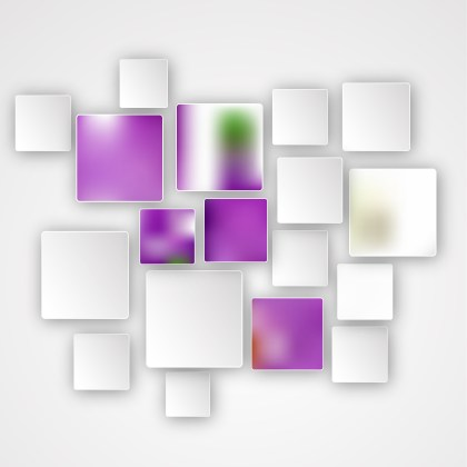 Purple and White Abstract Modern Square Background