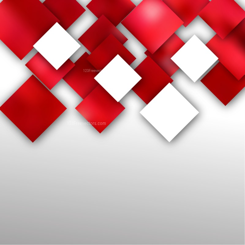 Abstract Red and White Square Modern Background Image