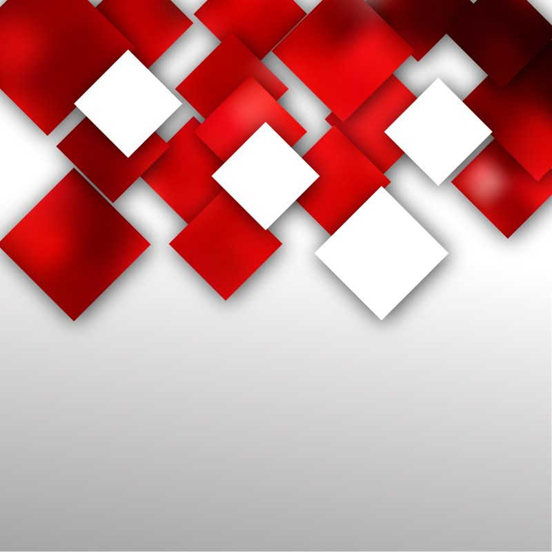Red and White Abstract Modern Square Background