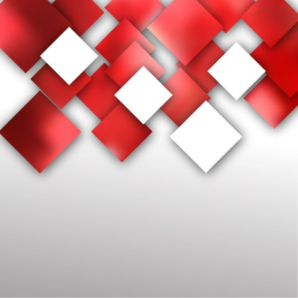 Red and White Modern Square Abstract Background