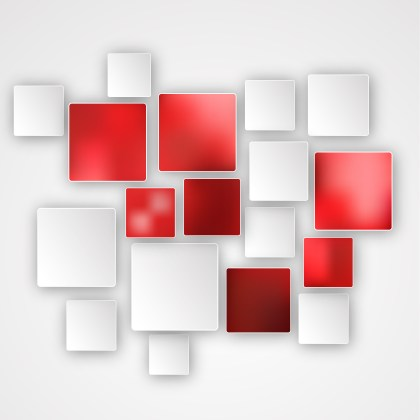 Red and White Squares Abstract Background