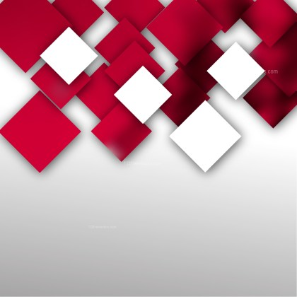 Abstract Red and White Modern Square Background Template