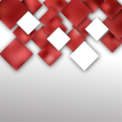 Red and White Abstract Modern Square Background Vector Illustration