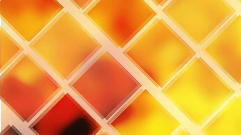 Abstract Red and Yellow Square Lines Background Vector Image