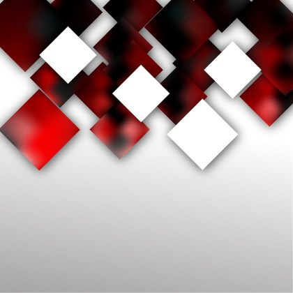 Red Black and White Abstract Modern Square Background Vector Illustration