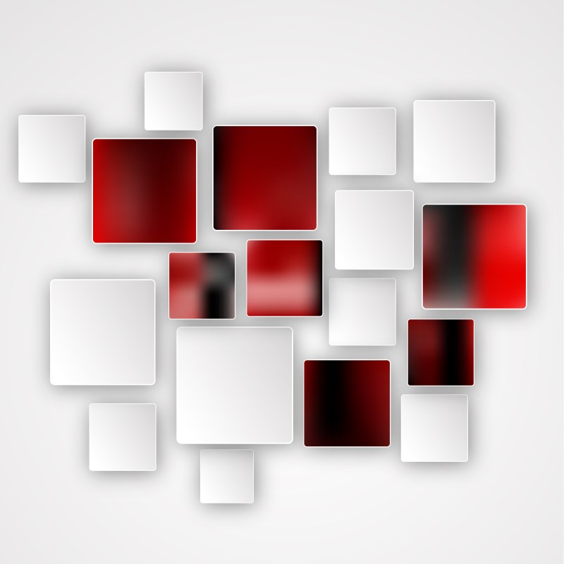 Red Black and White Modern Square Abstract Background Template