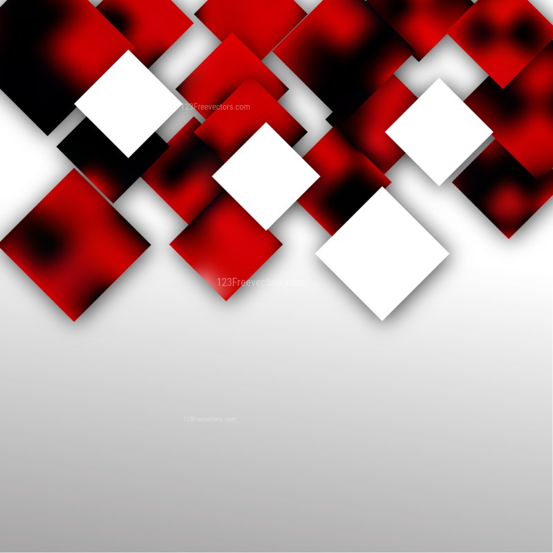 Red Black and White Abstract Modern Square Background