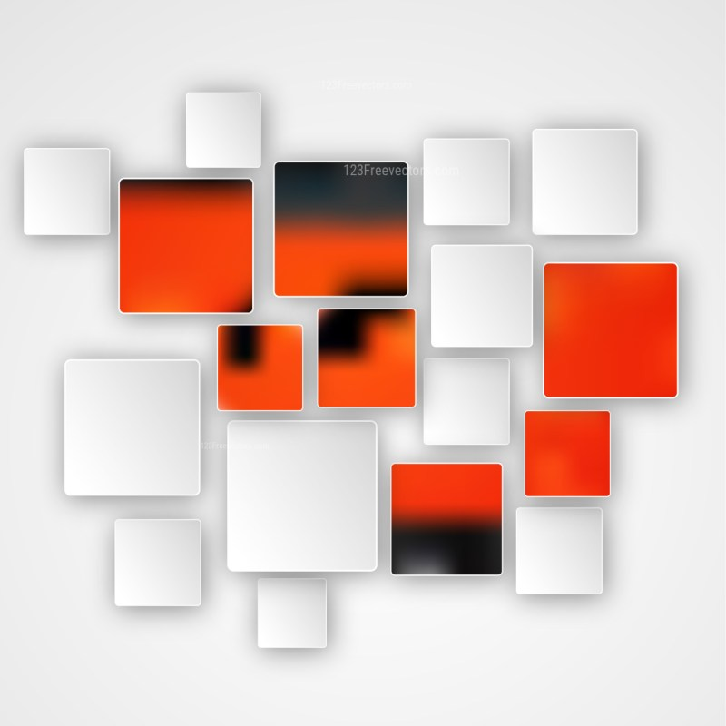Modern Abstract Red Black and White Squares Background Graphic