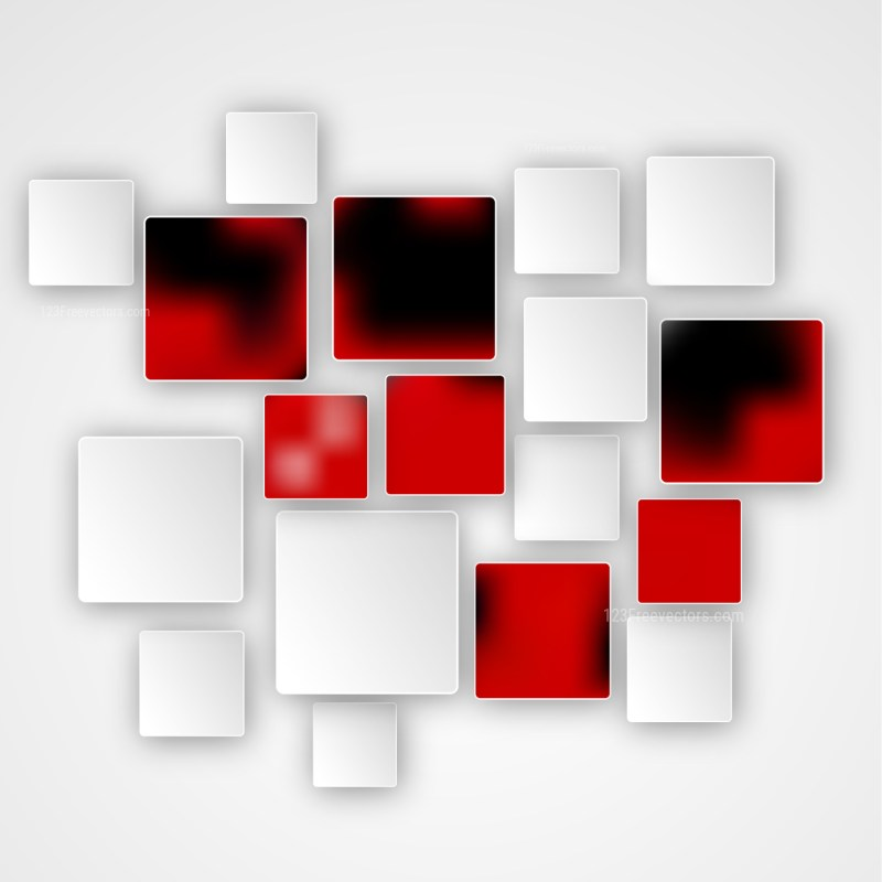 Abstract Red Black and White Square Modern Background Design Template