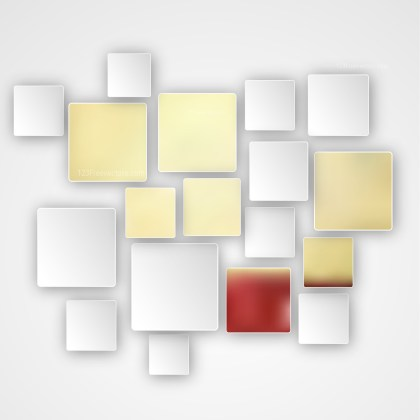 Red Gold and White Squares Abstract Background Design Template