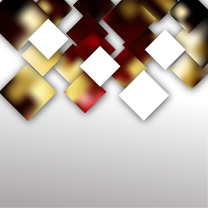Red Gold and White Modern Square Abstract Background Template