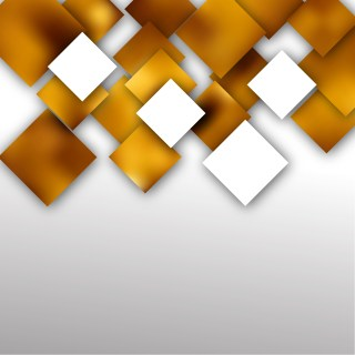 White and Gold Modern Square Abstract Background Design