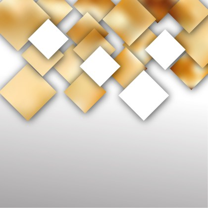 Modern Abstract White and Gold Squares Background