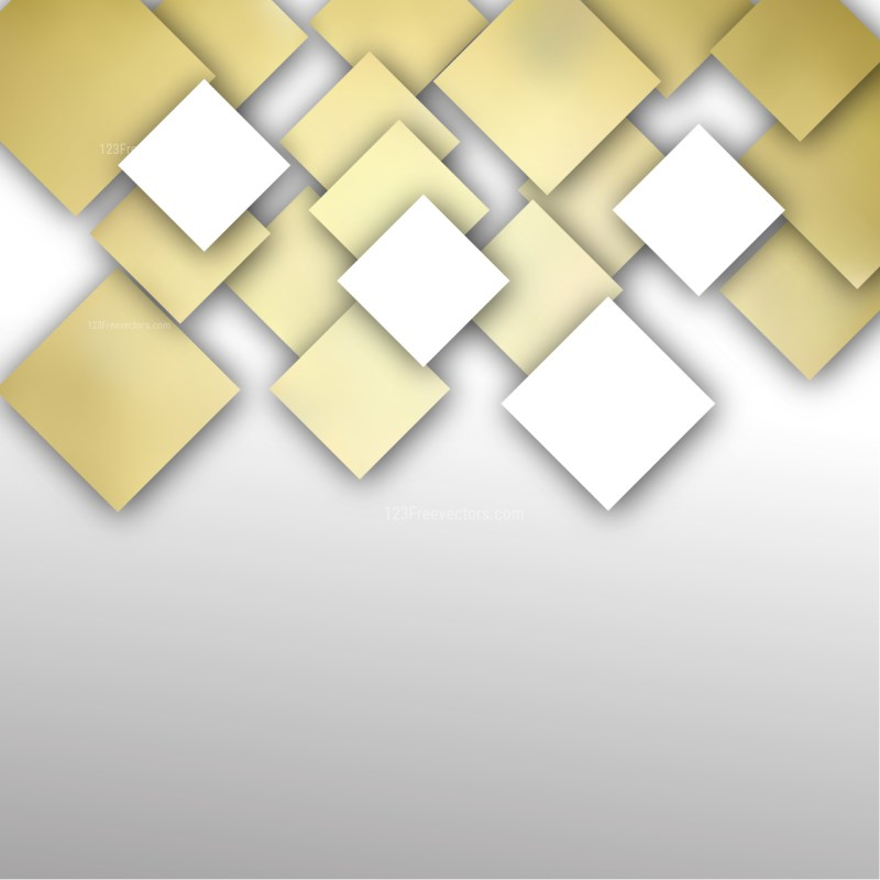 White and Gold Modern Square Abstract Background Template