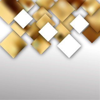 White and Gold Modern Square Abstract Background