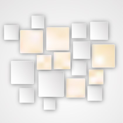 Modern Yellow and White Square Abstract Background Vector Illustration