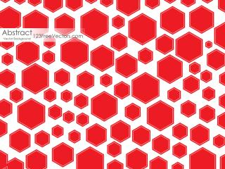 Red Polygon Shape Background Design