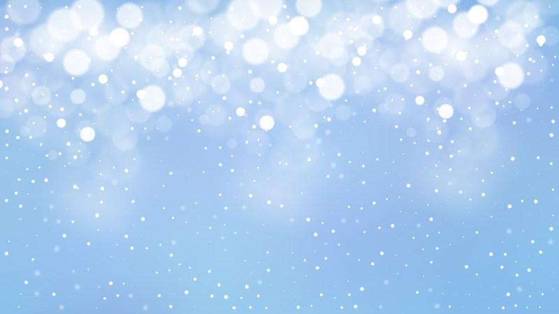 Baby Blue Blur Lights Background