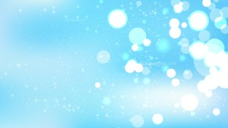 Baby Blue Bokeh Lights Background Vector Graphic