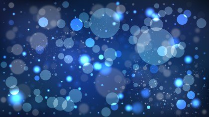 Black and Blue Bokeh Lights Background Illustrator