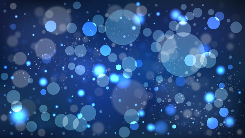 Black and Blue Bokeh Lights Background Illustrator