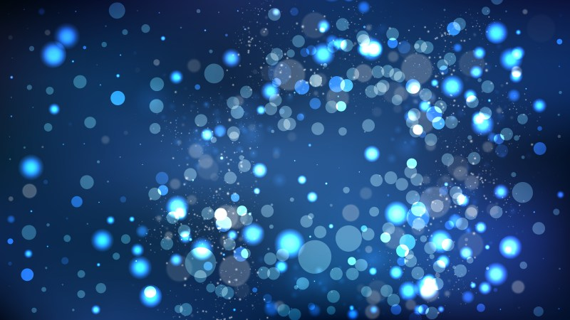 Abstract Black and Blue Blurry Lights Background