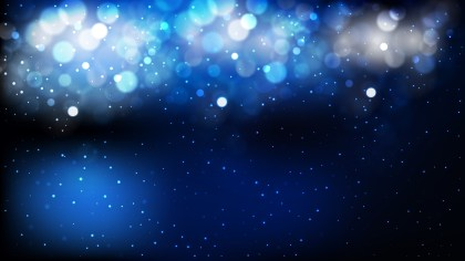 Abstract Black and Blue Blurred Bokeh Background Illustration
